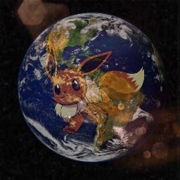 freetoedit earth evolie eevee space
