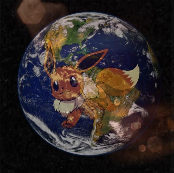 #freetoedit #earth #evolie #eevee #space