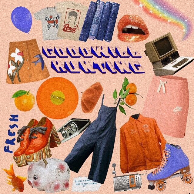 had fun at goodwill today so i brought you this #moodboard, not to be confused with good will hunting, a different #mood altogether. liking the contrast on this one between the blue and orange :3 more coming soon!!  (ps if you want to see the funny things i found at goodwill check this post on insta @/niche_peache!)  (pps. comment more moodboard ideas im in a creative rut!) #niche #orange #peach #pink #fashion #thrifting #thrifty #shifty