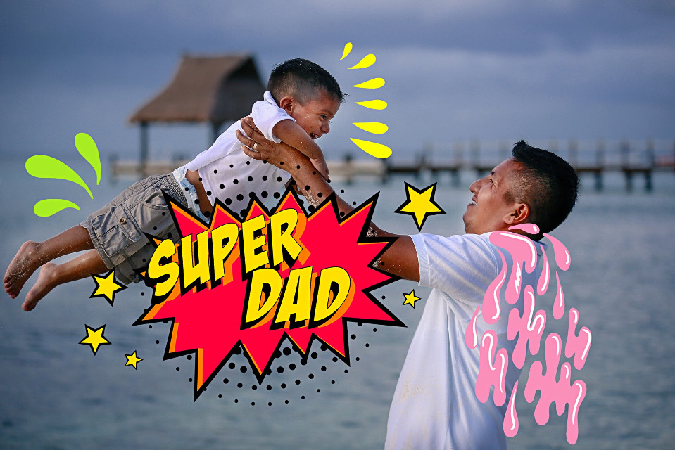 #freetoedit #fathersday #superdad