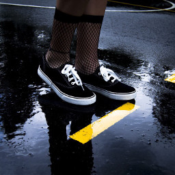 freetoedit shoes puddle lines yellow day