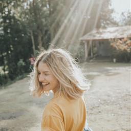 freetoedit girl outdoor nature sun