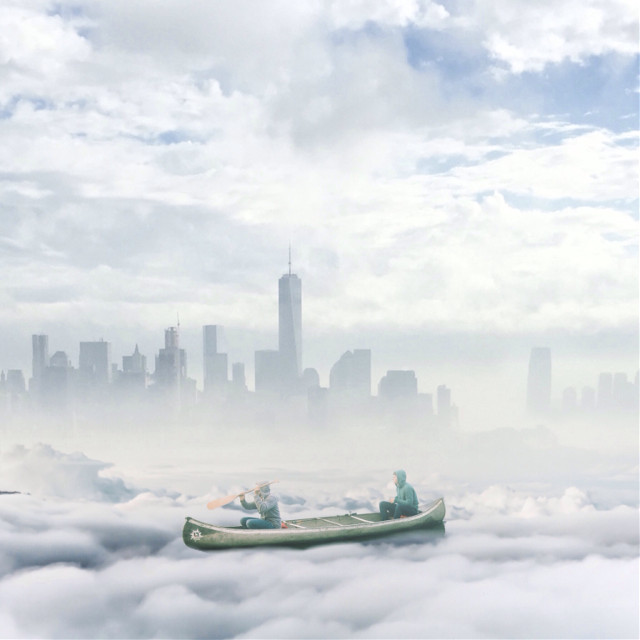 #edited #surreal #cloudy #boating #cityscape #peoples