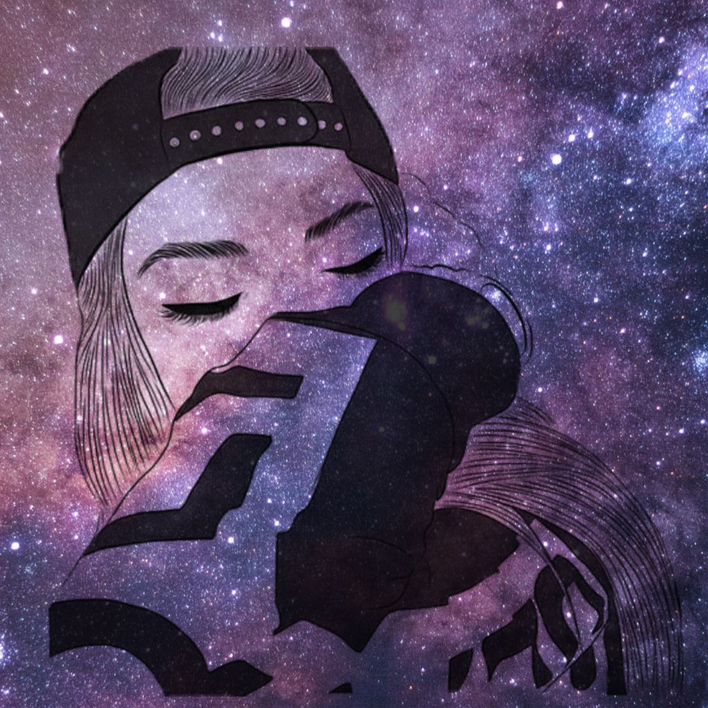 freetoedit girl tumblr galaxy hoodie aesthetic art peop