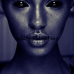 freetoedit girl dead blue black