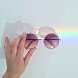 freetoedit rainbow sunglasses summeraesthetic rainbowaesthetic