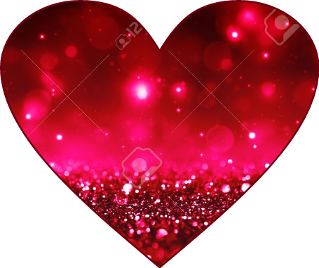 Red Glitter Sparkle Red Heart Cool Magnificent Heart Cool Love