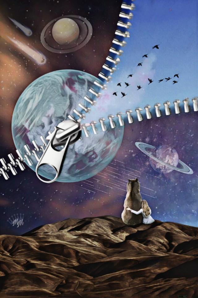 #freetoedit #editedbyme #surreal #imagination #digitalart #galaxy #madewithpicsart