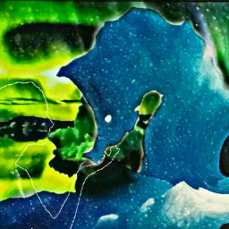 freetoedit swirleffect magic polarlights seahorse
