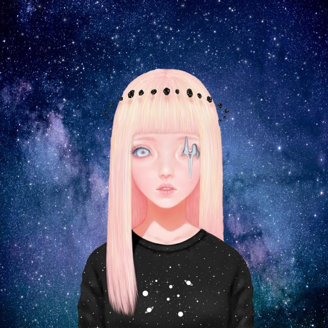 #freetoedit 👉🏼 #Space #Girl #Alien #Weird 👽 @pa