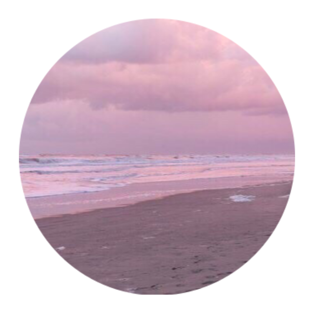 Beach Aesthetic Pink Pretty Sticker By Taemooni