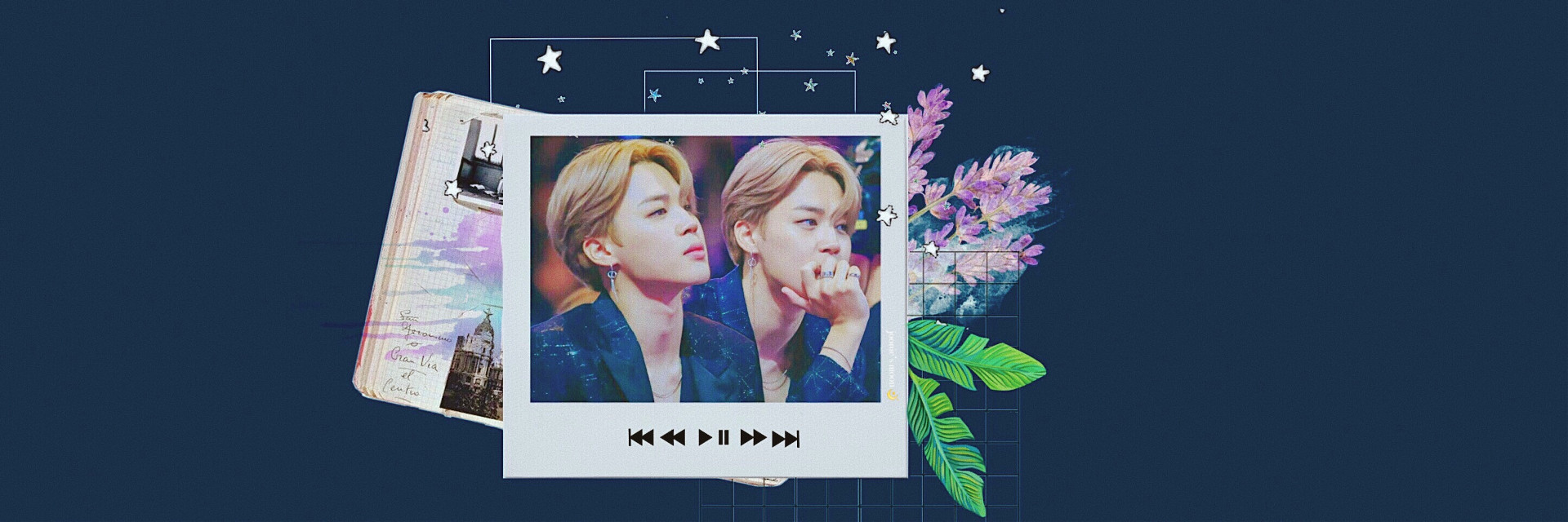 I can't get over this look. He looked like a prince 😍🤤 #Jimin #handsome #BTS #header #twitter #collage #mixmatch #polaroid