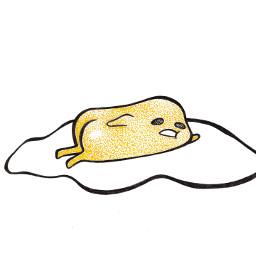 egg eggboi gudetama art pointillism