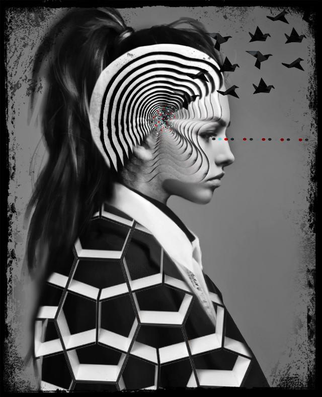 #freetoedit #doubleexposure#geometric#abstract#avantgarde 🤖🖤