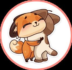 circle friendship embrace fox freetoedit