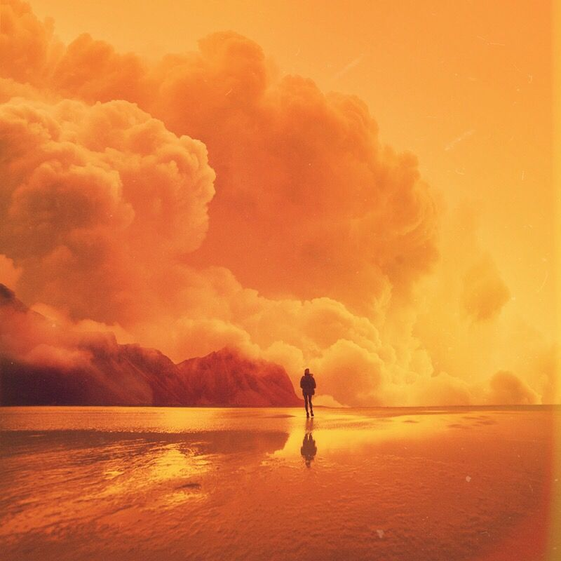 Private Universe. | www.shorsh.com #art by Shørsh #summer #yellow #beach #mountain #clouds #nature #surreal #scifi