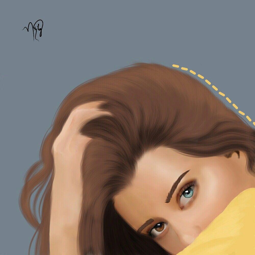 #freetoedit #model #bicolor #eyes #yellow #line