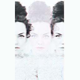 photography remix picartist three girl