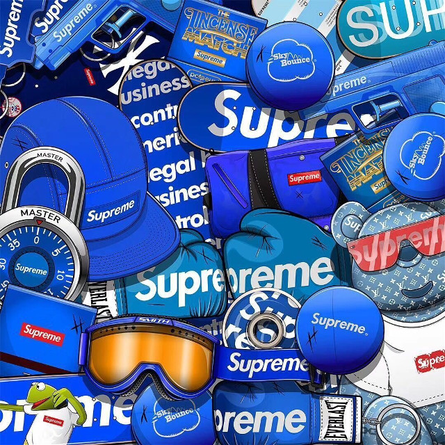 #supreme #freetoedit #supreme街头潮流 #remix #蓝色