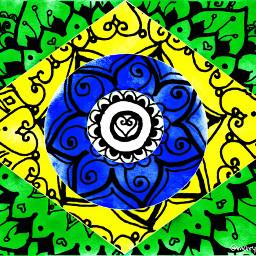 freetoedit brasil mandalas bandeira ecflagoverlay