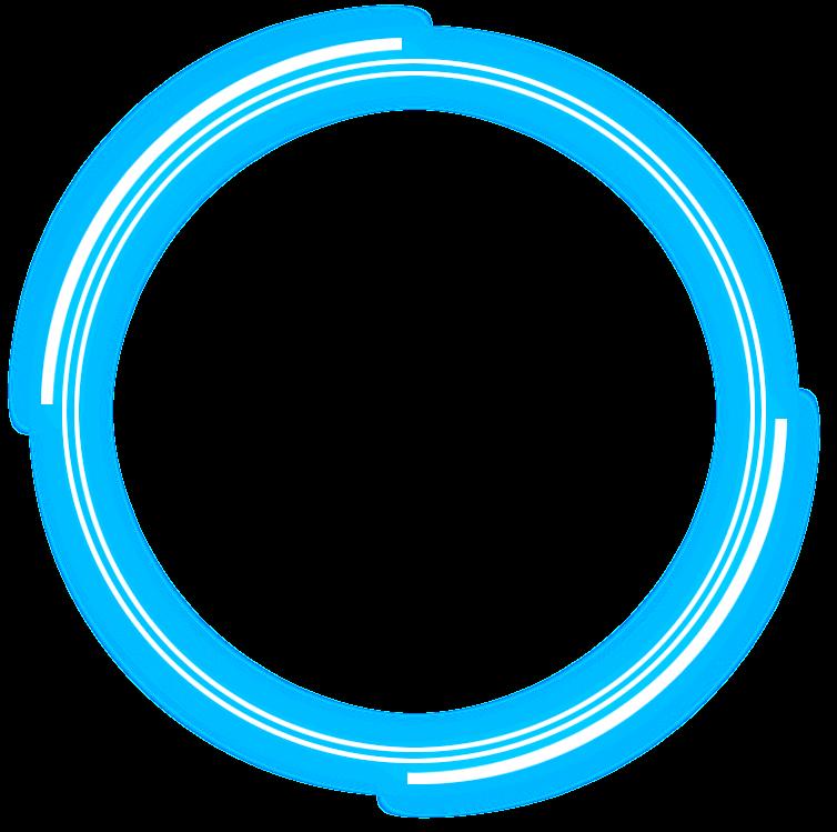circle neon blue overlay white overlay freetoedit