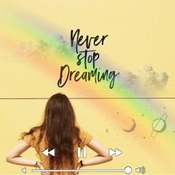 neverstopdreaming rainbow freetoedit