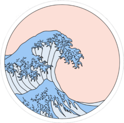 Pink Blue White Ocean Beach Summer Aesthetic Tumblr Sti