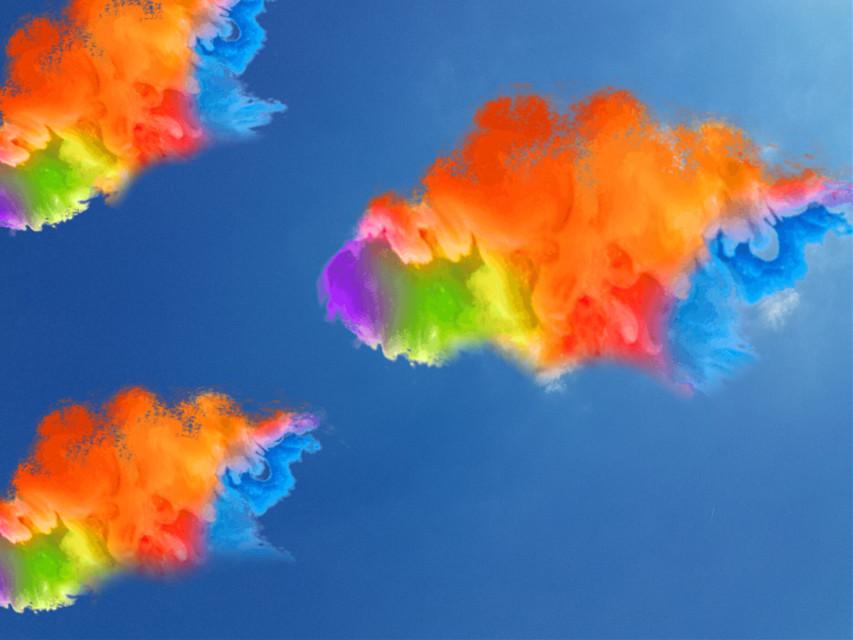 #freetoedit @mancare11 @julisisisss @ainara1214lola #sky#cielo#rainbow#arcoiris