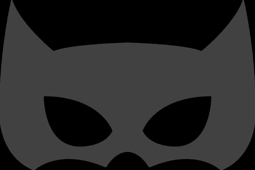 Catwoman Batman Superhero Mask Grey