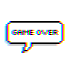 Game Gameover Glitch Tumblr Balloon