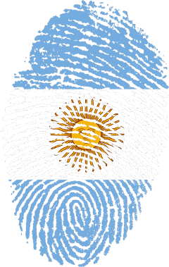 fingerprint argentina flag football soccer