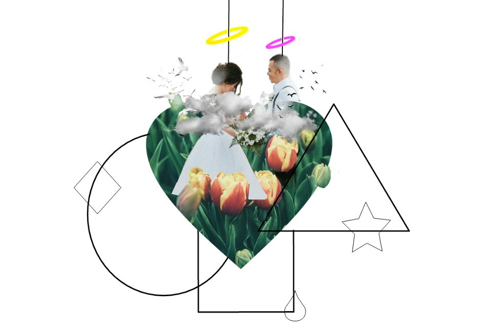 #freetoedit Draw... all the romance. #ircjustmarried #justmarried #geometry #shape #flower