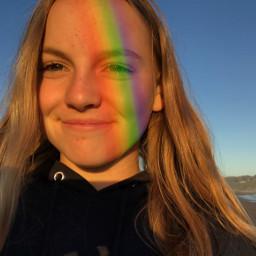 rainbow beach cali sky freetoedit