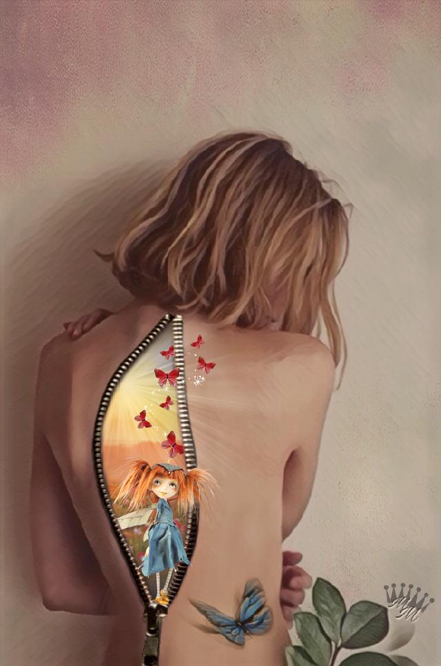 #freetoedit  #artisticselfie #editedbyme #imagination #surreal  #zipper #art #artistic #woman.