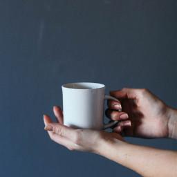 freetoedit cup minimal hands minimalism