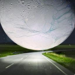 ircsaturnsmoon saturnsmoon freetoedit road planet ftestickers