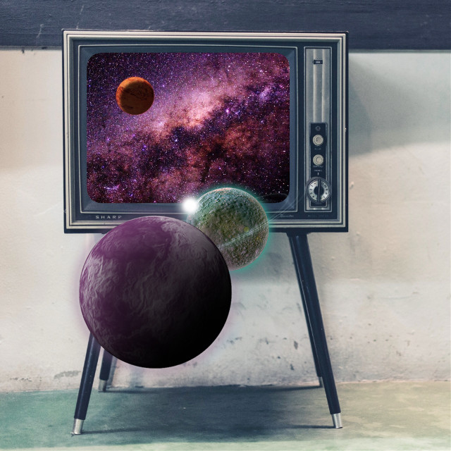 Spaced it  #edit #art #tv #space #freetoedit