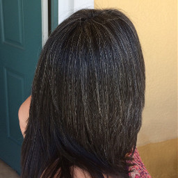 pchairstyle hairstyle naturalgray naturalcolor grayhair