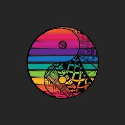 rainbow yinyang