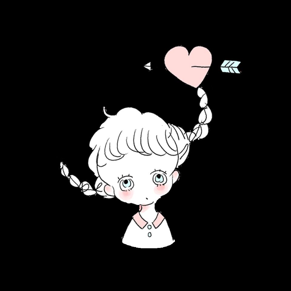 Cahoイラスト可愛い女の子ピンク恋 Freetoedit Sticker By な つ み