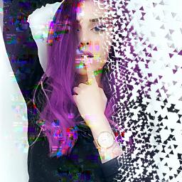 girl glitched pretty edit freetoedit