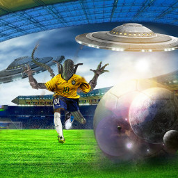 freetoedit alien soccerplayer tenis remixedcollection srcworldufoday