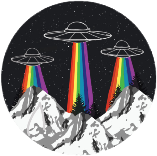 space ufo rainbow lgbt tumblr circle mountain aesthetic...