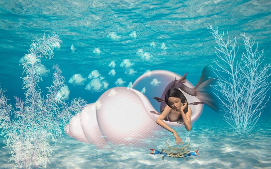 #freetoedit #seashell #underthesea #underwater #mermaid #myedit