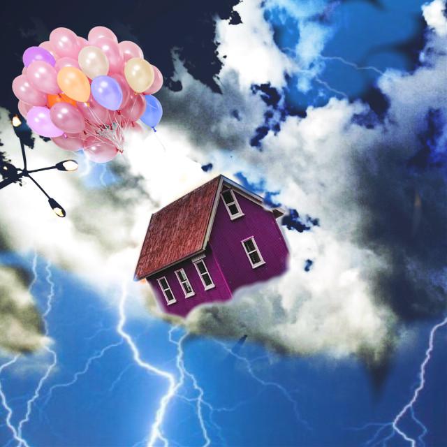 #freetoedit #sky #lightning #house #nature #photography