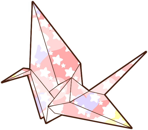 Sticker Origami Crane Japan Tumblr Bird Colorful Png