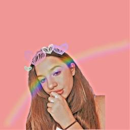 freetoedit kenzieziegler loveher rainbow pink
