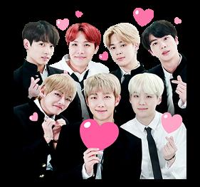 bts BTS group heart black rm suga jin jhope jimin v jun