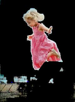 littlegirl jump freetoedit