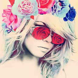freetoedit srcfridaflowercrown fridaflowercrown rose rosetinted